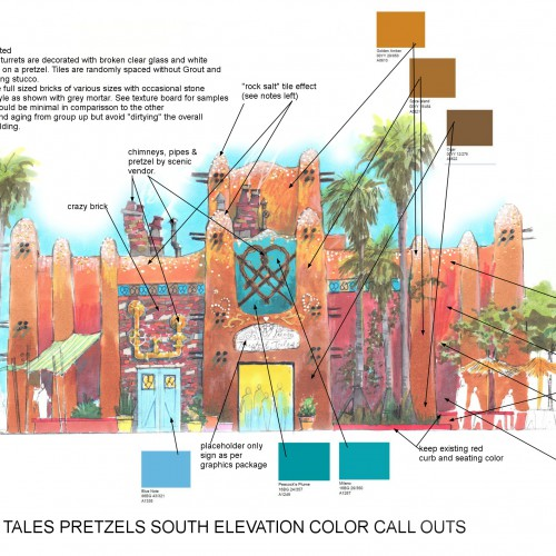 P twisted tales pretzel south elevation color call outs