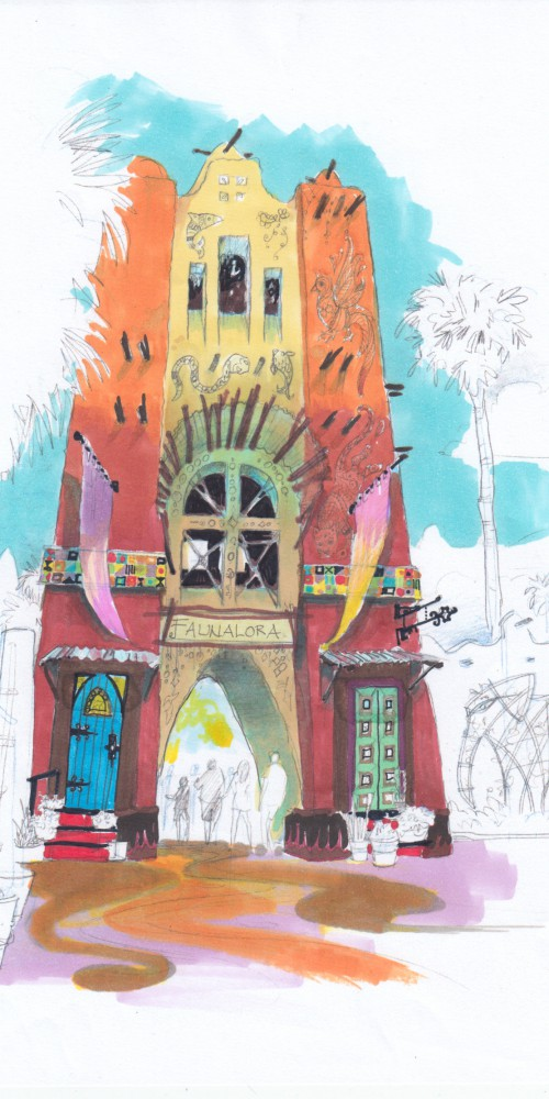 Pantopia east gateway quick color sketch